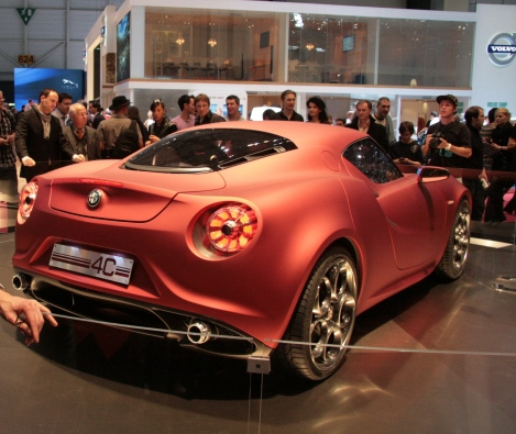Alfa 4C Concept presented in Geneva 2011. Available from 2013