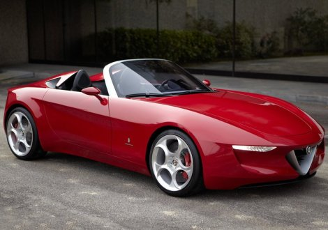 Alfa 2uettottanta. A possible anticipation of future Alfa Spyder. Photo by netcarshow.com