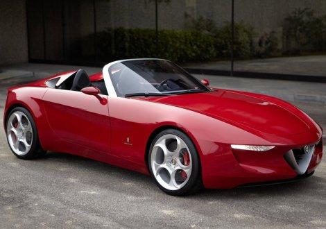 Alfa 2uettottanta. A possible anticipation of future Alfa Spyder. Photo by netcarshow.com
