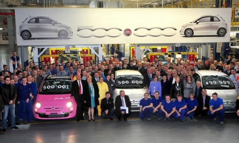 29/03/2010: 500.000 units produced of Fiat 500 in Tychy, Poland