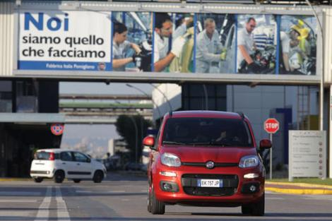 'We are what we do'. A Panda leaving Pomigliano Factory