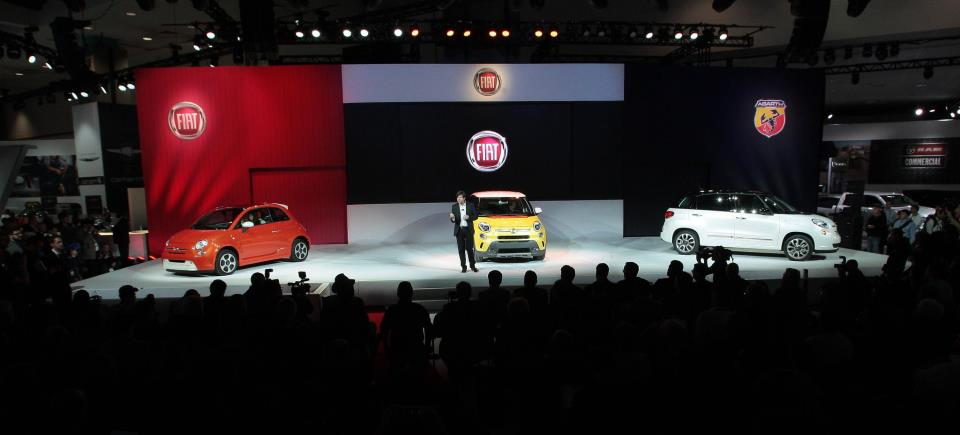 Olivier François, Fiat brand's chief, at the presentation of the 500L family
