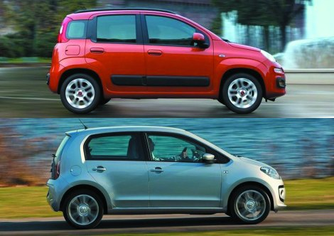 Fiat Panda vs VW Up! November 2012