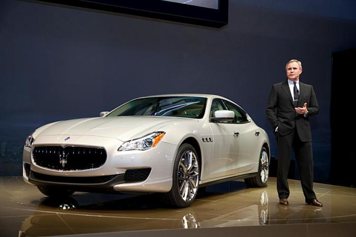 Maserati's CEO, Harald Wester at the official presentation of new Quattroporte