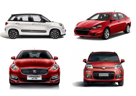 The Fiat 500L, Dodge Dart, Fiat Viaggio and Fiat Panda are the group's latest products. Their goal: big sales numbers.