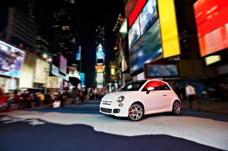 Fiat 500 in Times Square