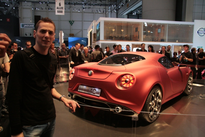 Me and Alfa Romeo 4C Concept in Geneva 2011.