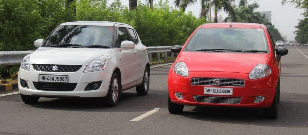 Fiat Punto and Suzuki Swift