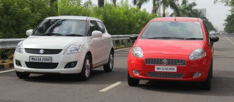 Fiat Punto and Suzuki Swift