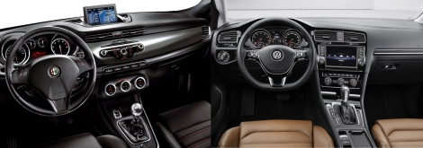 Alfa Giulietta vs VW Golf 5