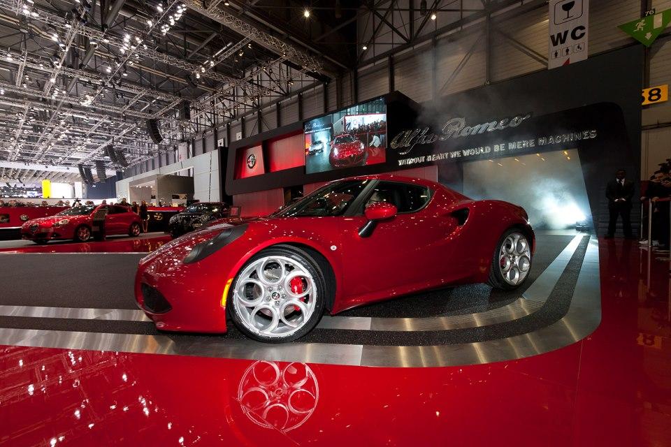 The Alfa Romeo 4C presentation in Geneva 2013