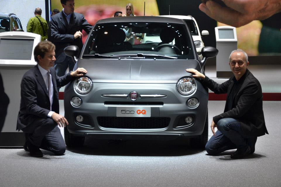 The Fiat 500 GQ and Lorenzo Ramaciotti, head of Design