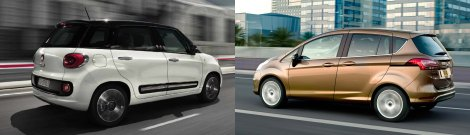 Fiat 500L and Ford B-Max