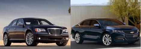 Chrysler 300 vs Chevy Impala 1