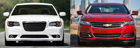 Chrysler 300 vs Chevy Impala 2