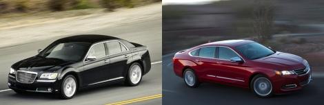 Chrysler 300 vs Chevy Impala 5