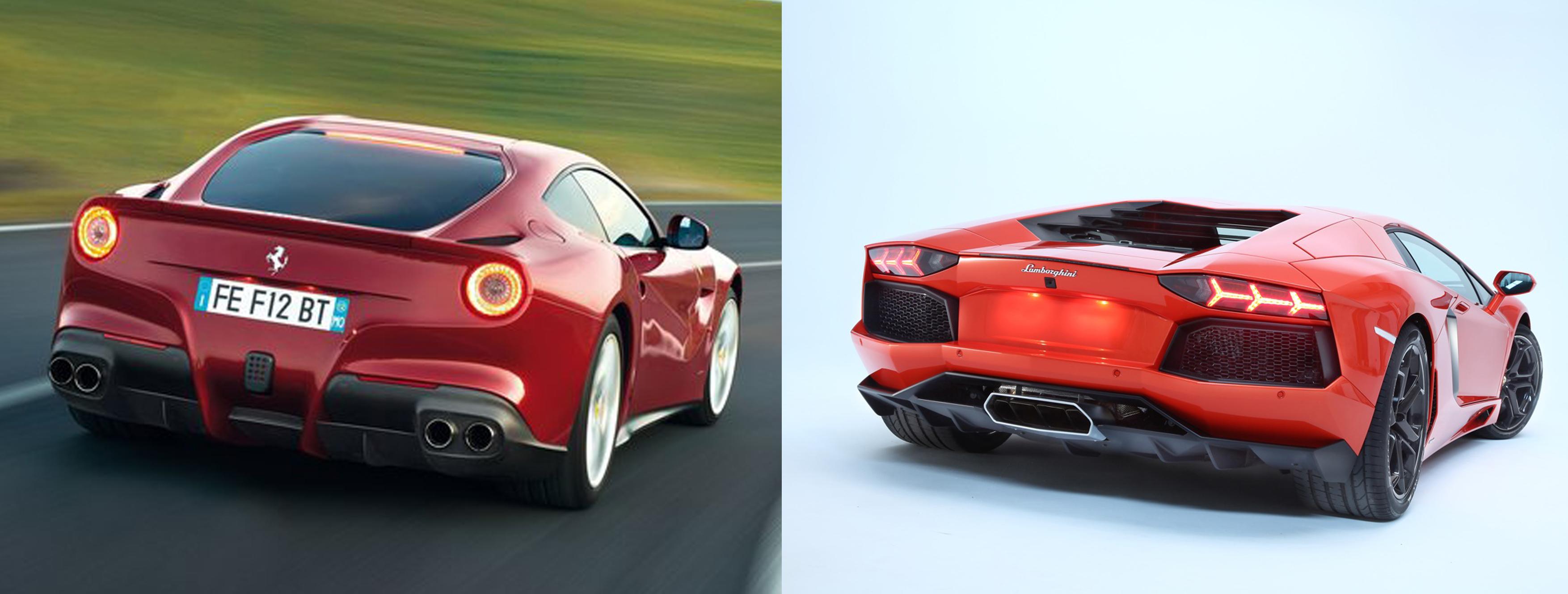 Ferrari F12 Berlinetta Or Lamborghini Aventador Fiat Group S World