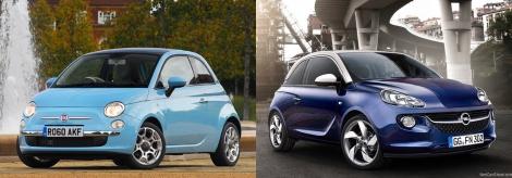 Fiat 500 vs Opel Adam 1