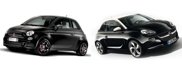 Fiat 500 vs Opel Adam 2