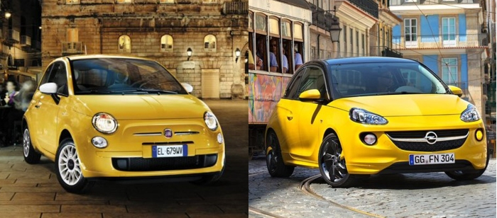 Fiat 500 vs Opel Adam 3