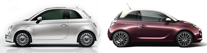 Fiat 500 vs Opel Adam 5