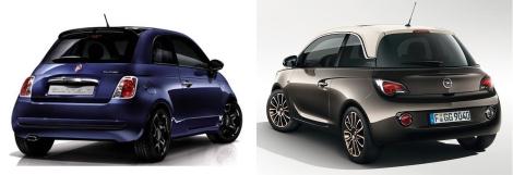 Fiat 500 vs Opel Adam 6