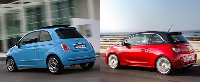 Fiat 500 vs Opel Adam 7