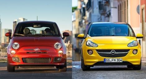 Fiat 500 vs Opel Adam 8