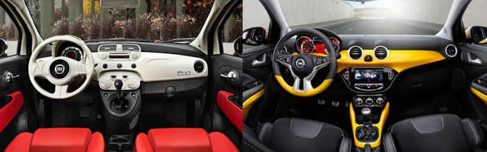Fiat 500 vs Opel Adam 9