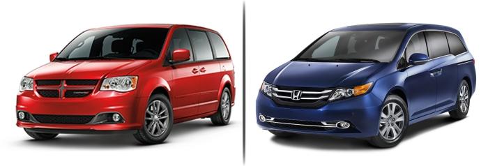 Dodge Caravan vs Honda Odyssey 2