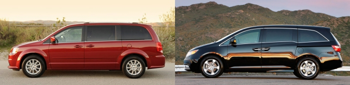 Dodge Caravan vs Honda Odyssey 3
