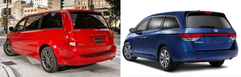 Dodge Caravan vs Honda Odyssey 4
