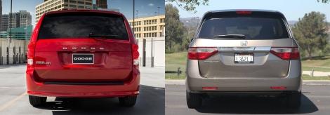 Dodge Caravan vs Honda Odyssey 5