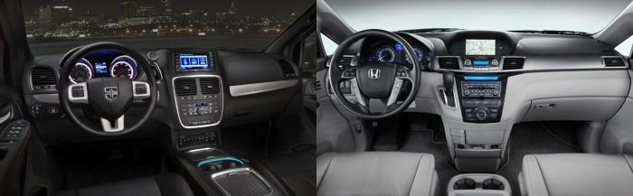 Dodge Caravan vs Honda Odyssey 6