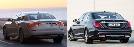 Maserati Quattroporte vs Mercedes S Class 6