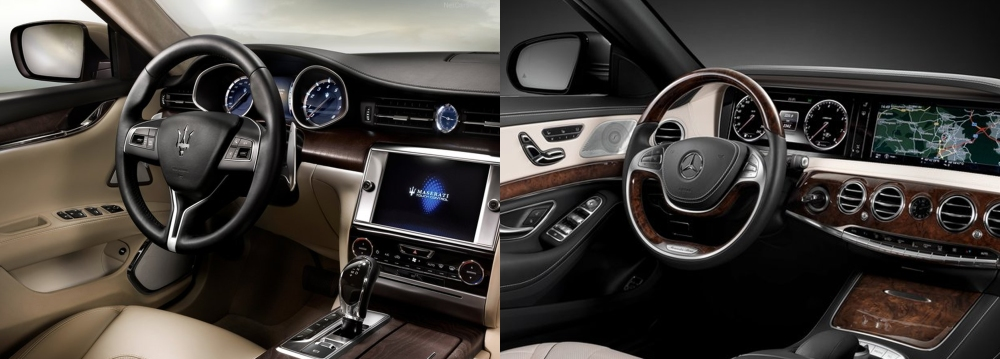 Maserati Quattroporte vs Mercedes S Class 7