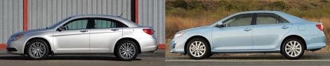 Chrysler 200 vs Toyota Camry 4