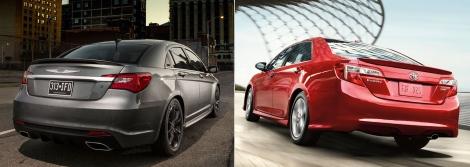 Chrysler 200 vs Toyota Camry 5