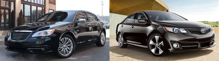 Chrysler 200 vs Toyota Camry
