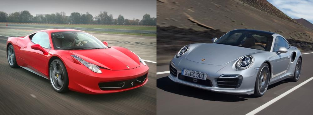 Ferrari 458 Italia vs Porsche 911 2