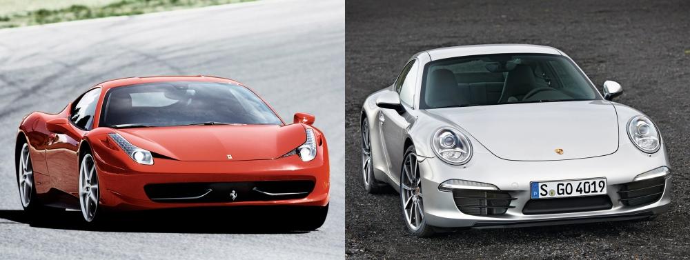 Ferrari 458 Italia vs Porsche 911 3