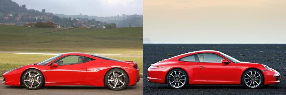Ferrari 458 Italia vs Porsche 911 5