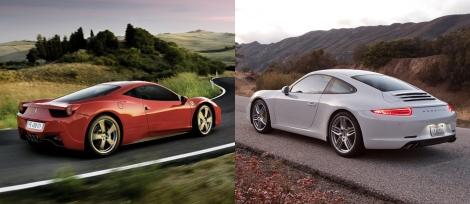 Ferrari 458 Italia vs Porsche 911 6