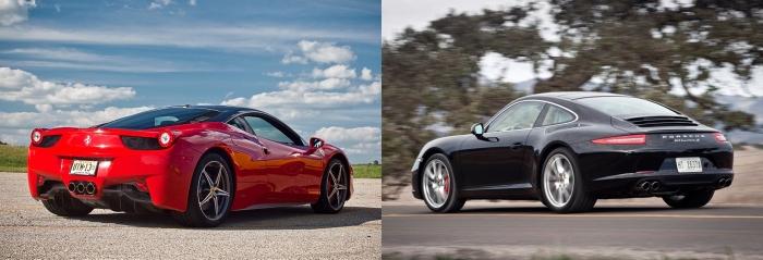 Ferrari 458 Italia vs Porsche 911 7