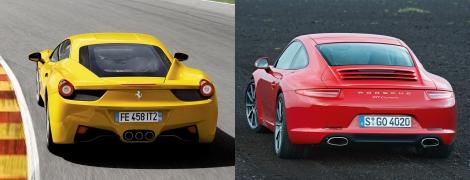 Ferrari 458 Italia vs Porsche 911 8