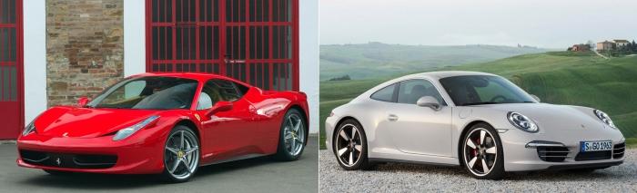 Ferrari 458 Italia vs Porsche 911