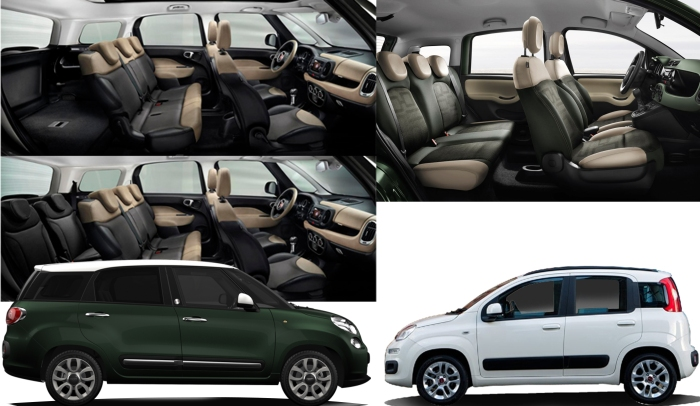 The Fiat 500L Living is closer to the Panda's values than the regular 500's. It is a car conceived for roomminess, and practicality, like the Panda.