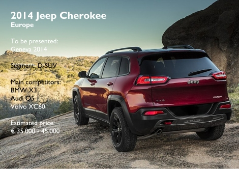 The Cherokee will hit European and Russian dealers next year and is expected to be a cheaper alternative than premium D-SUVs.