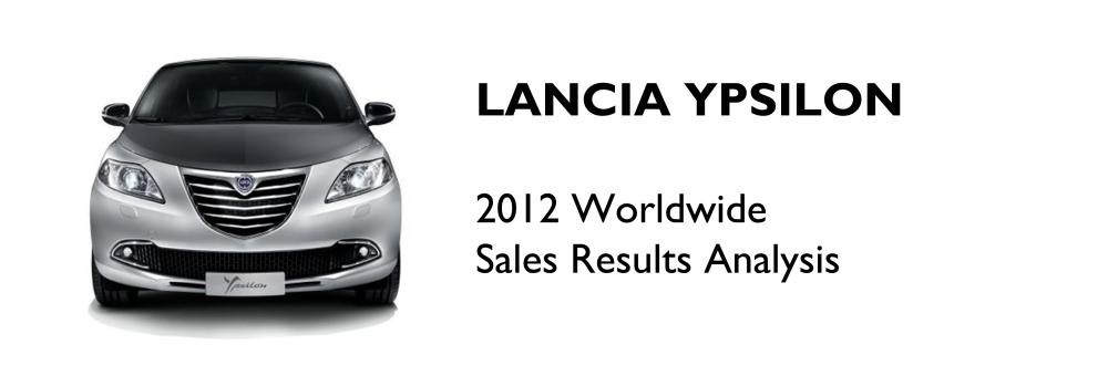 Lancia Ypsilon 2012 Sales Analysis
