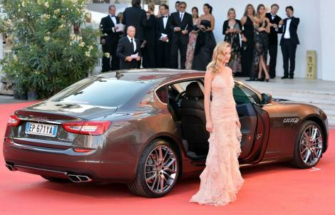 Maserati at the 70th Venice Film Festival. It is normally Lancia the sponsor brand of this kind of events. A good campaign has helped the brand to gain awareness.